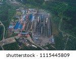 aluminum metallurgical plant... | Shutterstock . vector #1115445809
