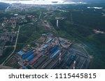 aluminum metallurgical plant... | Shutterstock . vector #1115445815