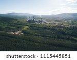 aluminum metallurgical plant... | Shutterstock . vector #1115445851
