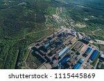 aluminum metallurgical plant... | Shutterstock . vector #1115445869