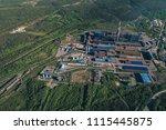 aluminum metallurgical plant... | Shutterstock . vector #1115445875