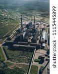 aluminum metallurgical plant... | Shutterstock . vector #1115445899