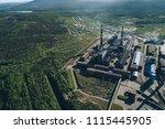 aluminum metallurgical plant... | Shutterstock . vector #1115445905
