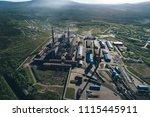 aluminum metallurgical plant... | Shutterstock . vector #1115445911