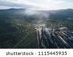 aluminum metallurgical plant... | Shutterstock . vector #1115445935