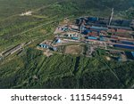 aluminum metallurgical plant... | Shutterstock . vector #1115445941