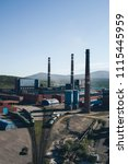 aluminum metallurgical plant... | Shutterstock . vector #1115445959