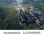 aluminum metallurgical plant... | Shutterstock . vector #1115445965