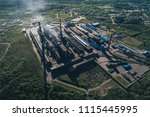 aluminum metallurgical plant... | Shutterstock . vector #1115445995