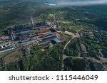 aluminum metallurgical plant... | Shutterstock . vector #1115446049