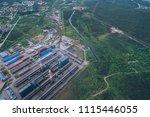 aluminum metallurgical plant... | Shutterstock . vector #1115446055