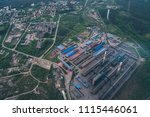 aluminum metallurgical plant... | Shutterstock . vector #1115446061