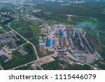 aluminum metallurgical plant... | Shutterstock . vector #1115446079