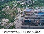 aluminum metallurgical plant... | Shutterstock . vector #1115446085