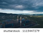 aluminum metallurgical plant... | Shutterstock . vector #1115447279