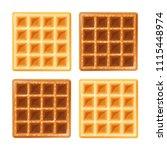 belgian waffle. sweetness snack....   Shutterstock .eps vector #1115448974
