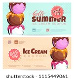 ice cream discount voucher... | Shutterstock .eps vector #1115449061