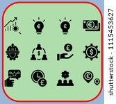 simple 12 icon set of business...   Shutterstock .eps vector #1115453627