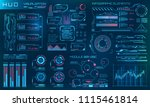 futuristic hud design elements. ... | Shutterstock .eps vector #1115461814