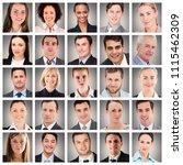 people collage portrait | Shutterstock . vector #1115462309