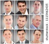 people collage portrait | Shutterstock . vector #1115462435