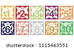 learning numbers  mathematics... | Shutterstock .eps vector #1115463551