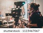 behind the scene. actor in... | Shutterstock . vector #1115467067