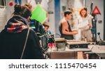 behind the scene. actor in... | Shutterstock . vector #1115470454