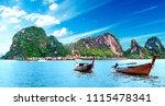 scenic phuket landscape.... | Shutterstock . vector #1115478341