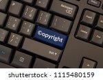copyright in the digital single ... | Shutterstock . vector #1115480159
