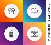 modern  simple vector icon set... | Shutterstock .eps vector #1115480579