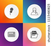 modern  simple vector icon set... | Shutterstock .eps vector #1115480825