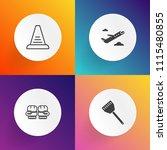 modern  simple vector icon set... | Shutterstock .eps vector #1115480855