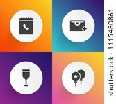 modern  simple vector icon set... | Shutterstock .eps vector #1115480861