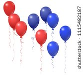 red and blue balloons group... | Shutterstock .eps vector #1115482187