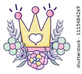 crown object with branches... | Shutterstock .eps vector #1115484269