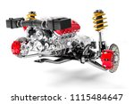 3d car chassis with motor and... | Shutterstock . vector #1115484647