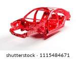 3d car frame body on white...   Shutterstock . vector #1115484671