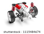 3d car chassis with motor ... | Shutterstock . vector #1115484674