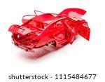 3d car frame body on white... | Shutterstock . vector #1115484677