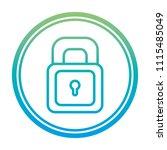 degraded line security padlock... | Shutterstock .eps vector #1115485049