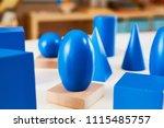 wood montessori geometrical... | Shutterstock . vector #1115485757
