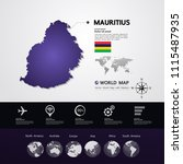 mauritius map vector... | Shutterstock .eps vector #1115487935
