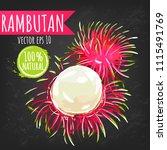 rambutan fresh fruit bright...   Shutterstock .eps vector #1115491769