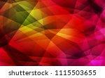 dark green  red vector shining... | Shutterstock .eps vector #1115503655