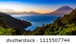 guatemala. panoramic view of... | Shutterstock . vector #1115507744