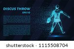 discus throw of particles. the... | Shutterstock .eps vector #1115508704