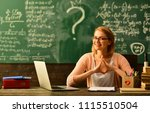 studying mathematics... | Shutterstock . vector #1115510504