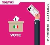 mexico elections  elecciones...   Shutterstock .eps vector #1115513609