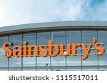 penzance  uk   june 2018 ... | Shutterstock . vector #1115517011